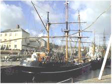 Charlestown, Cornwall, tall ship